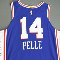 Norvel Pelle - Philadelphia 76ers - Game-Worn Icon Edition Jersey - Dressed, Did Not Play (DNP) - 2019-20 NBA Season Restart