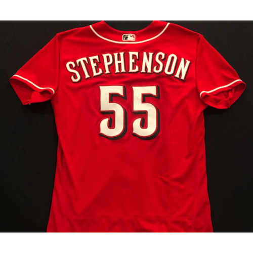 Photo of Robert Stephenson -- 2020 Spring Training Jersey -- Team-Issued -- Size 46