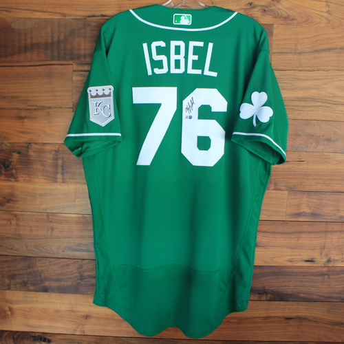 Photo of Autographed 2020 St. Patrick's Day Jersey: Kyle Isbel #76 - Size 46