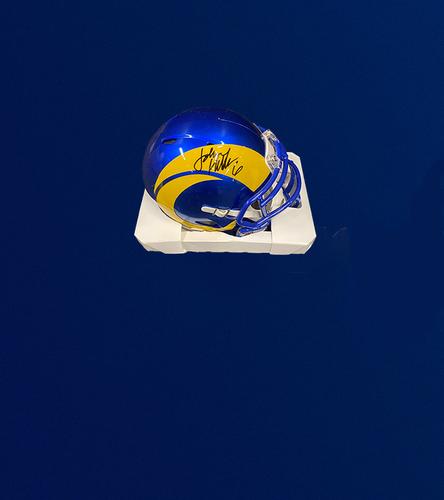 Photo of Johnny Hekker Signed Mini-Helmet