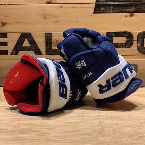 Nic Petan 2020-21 Game Worn Bauer Gloves