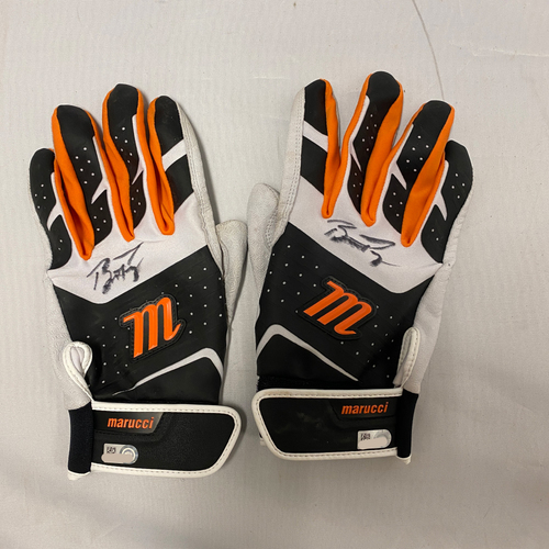 Photo of Buster Posey BP28 Foundation - 2021 Autographed Game Used Batting Gloves used & signed on 9/19 vs. ATL by #28 Buster Posey