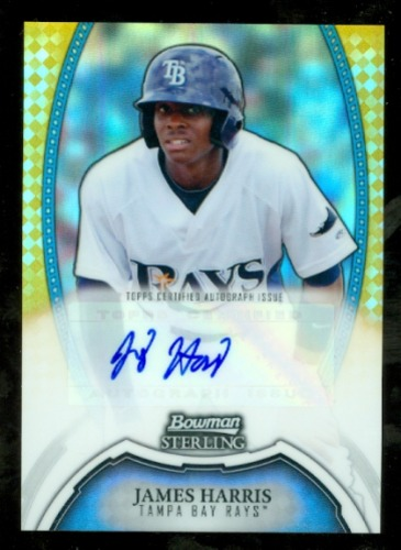 Photo of 2011 Bowman Sterling Prospect Autographs Gold Refractors #JHA James Harris