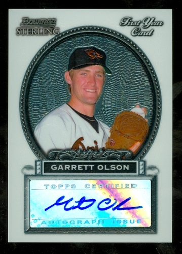 Photo of 2005 Bowman Sterling #GO Garrett Olson AU A RC