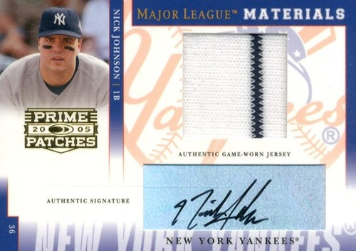 Photo of 2005 Prime Patches Major League Materials Autograph Jersey #30 Nick Johnson/200