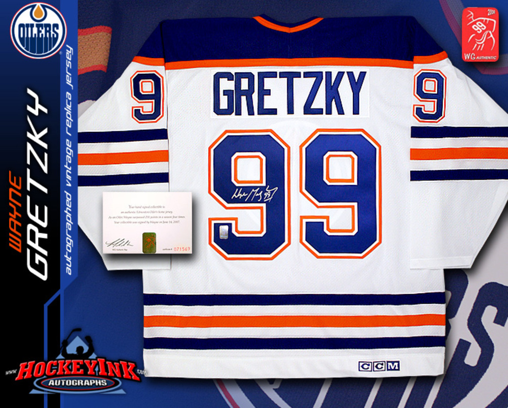 WAYNE GRETZKY Signed CCM Classic Replica Edmonton Oilers White Jersey - WGA  Certified 57a081ddc