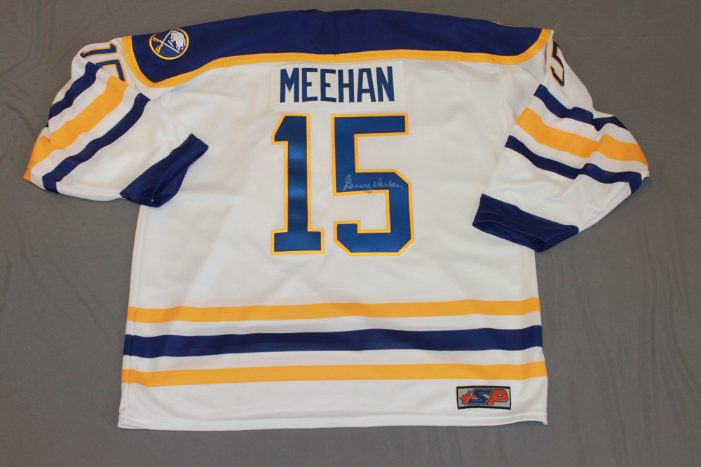 Gerry Meehan Autographed Buffalo Sabres Breast Cancer Awareness Jersey