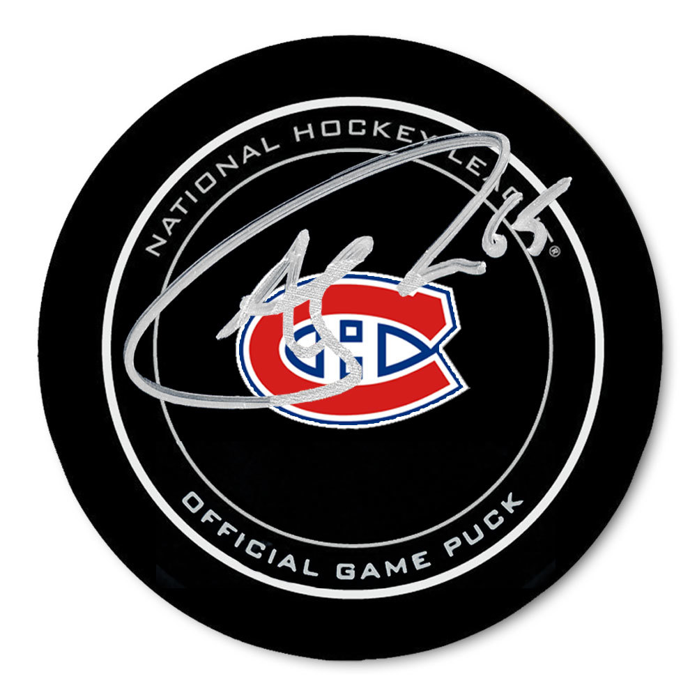 Andrew Shaw Montreal Canadiens Autographed Official Game Puck