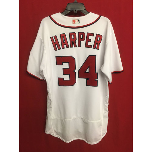 5fe4c9e26 Bryce Harper Game-Used Jersey  Max Scherzer s 20 Strikeout Game