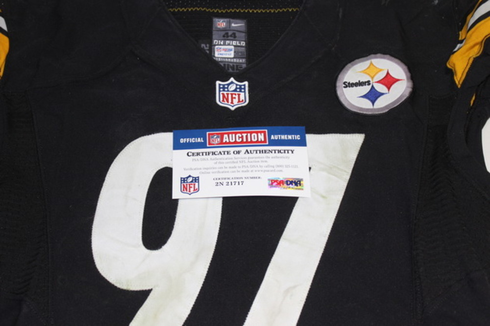 info for 8bdc7 d6d26 NFL Auction | STS - STEELERS CAMERON HEYWARD GAME WORN ...