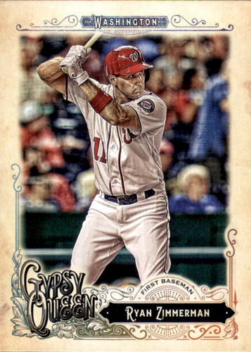 Photo of 2017 Topps Gypsy Queen #292 Ryan Zimmerman