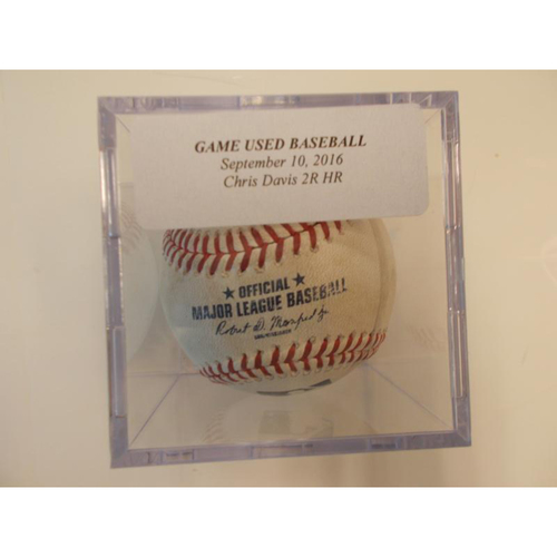Player Collected Baseball: Chris Davis 2 Run Home Run