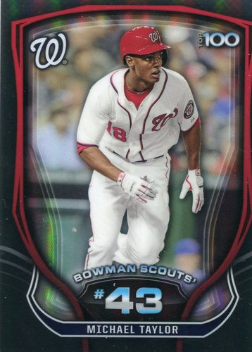 Photo of 2015 Bowman Chrome Bowman Scouts Top 100 #BTP43 Michael Taylor