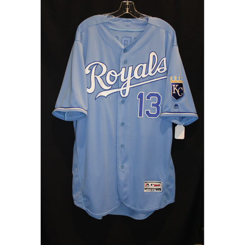 big sale 622fb f44cf MLB Auctions | Game-Used Jersey: Salvador Perez (Size 48 ...