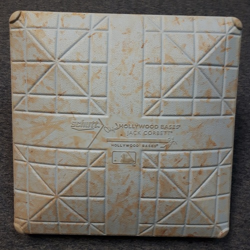 Photo of Authenticated Game Used Base - September 10, 2014. Drew Hutchison had 10 Ks in the game. 1st MLB RBI for Dalton Pompey (2nd Base for Innings 6 to 9)