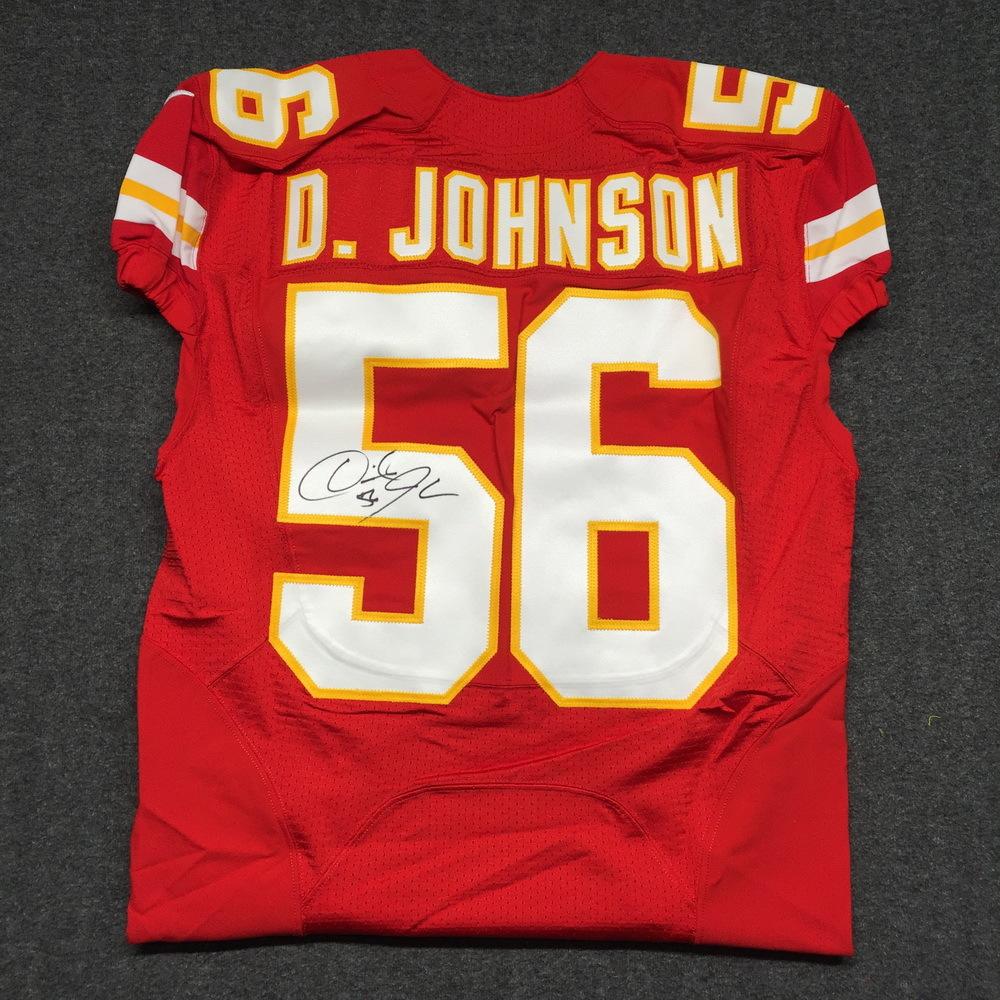 NFL Auction | Chiefs - Derrick Johnson signed authentic Chiefs ...