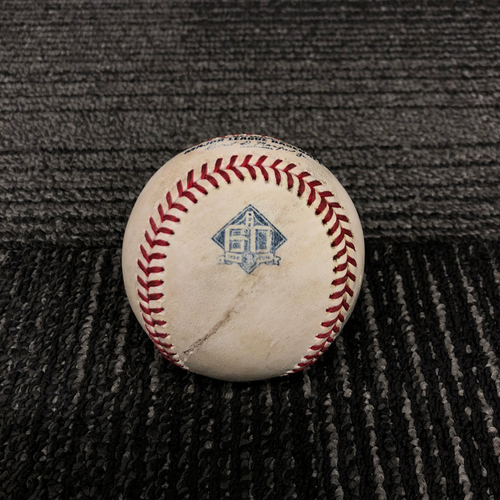 Photo of 2018 San Francisco Giants Game Used Baseball - 5/17/18 vs. Colorado Rockies - T-3: Jeff Samardzija  to Nolan Arenado - Single to SS - 2018 National League Silver Slugger & Gold Glove