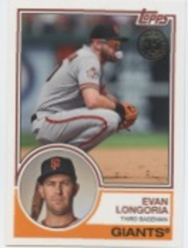 Photo of 2018 Topps Update '83 Topps #8333 Evan Longoria