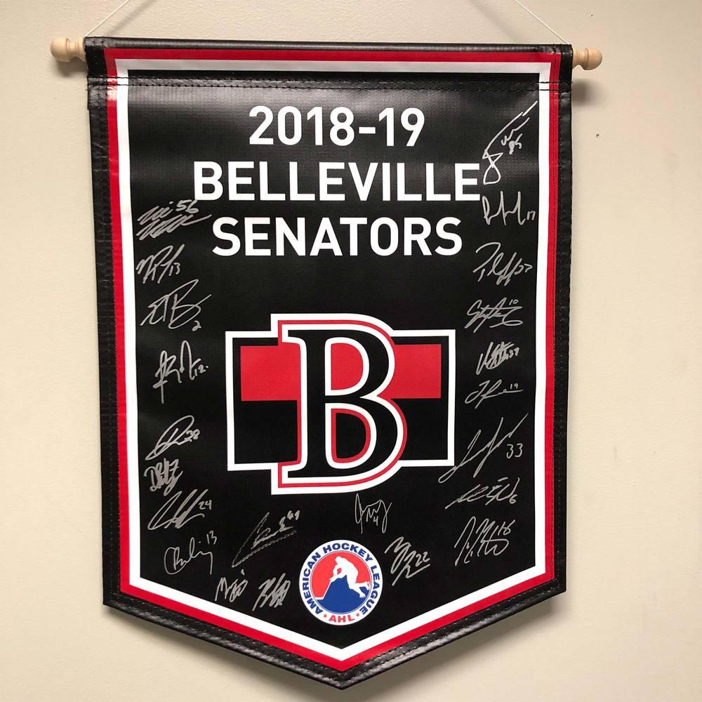 2018-19 Belleville Senators Team-Signed Banner