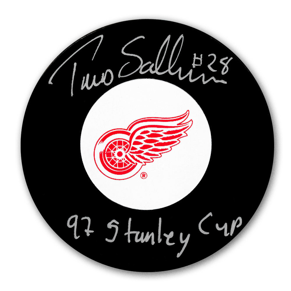 Tomas Sandstrom Detroit Red Wings 1997 Stanley Cup Autographed Puck