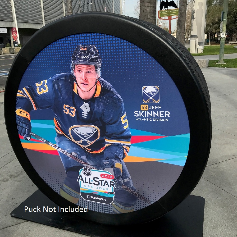 2019 NHL All Star Game Banner Featuring Jeff Skinner (Buffalo Sabres)