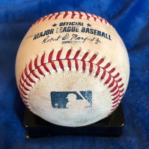 Photo of UMPS CARE AUCTION: Game Used Baseball from Albert Pujols 3,000th Hit Game