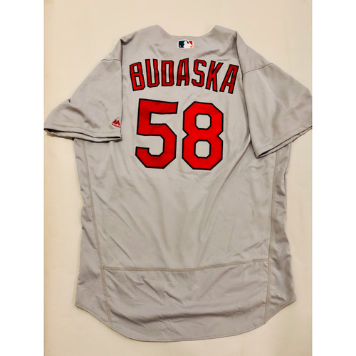 Photo of 2019 Mexico Series Game Used Jersey - Mark Budaska Size 50 (St. Louis Cardinals)