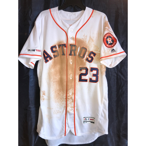 Photo of 2019 Michael Brantley Game-Used Home Jersey