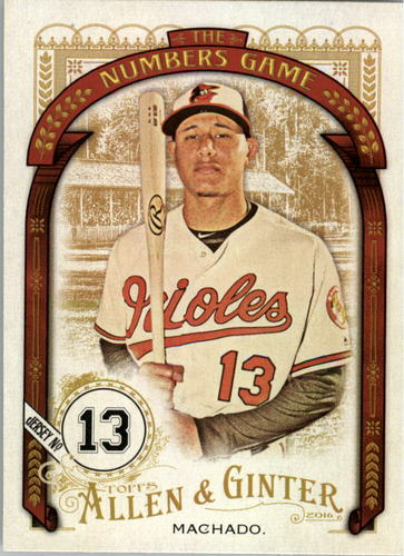 Photo of 2016 Topps Allen and Ginter The Numbers Game #NG23 Manny Machado