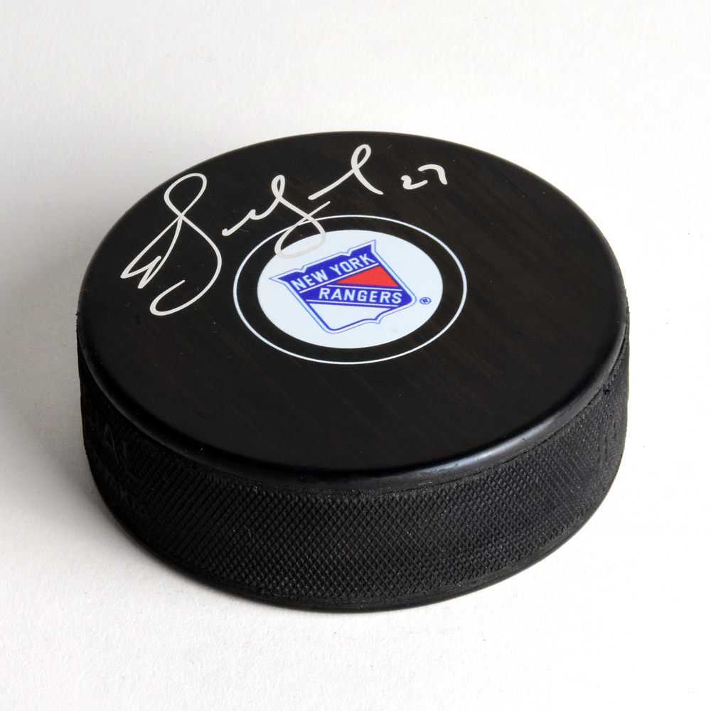 Alexei Kovalev New York Rangers Signed Autograph Model Hockey Puck