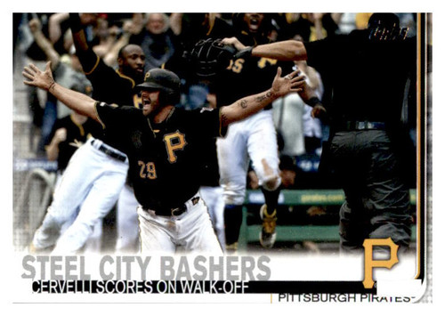 Photo of 2019 Topps Update #US251 Josh Bell/Starling Marte/Francisco Cervelli