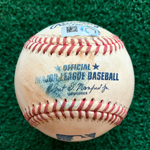 Photo of Game Used Baseball: Pitcher: German Marquez, Batter: Robinson Chirinos - Foul - Bot 4 - 8-6-2019 vs. COL