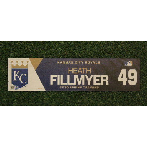 Photo of Game-Used Spring Training Locker Tag: Heath Fillmyer #49