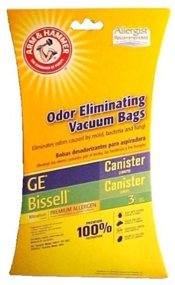 Photo of Arm & Hammer Odor Eliminating Vacuum Bags GE Canister (VC-396) / Bissell Canister (48K2)