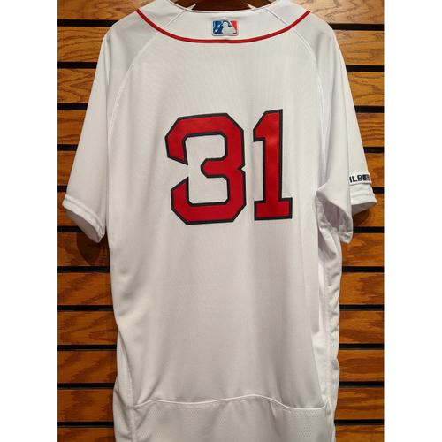 Photo of Jose Ramirez #31 Team Issued Home White Jersey