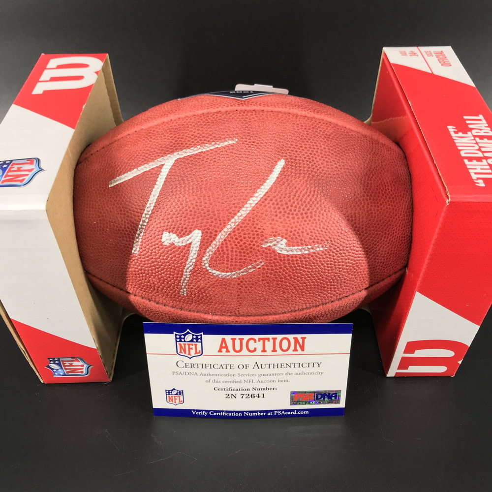 NFL - 49ers Trey Lance Signed Authentic Football with 2021 Draft Logo