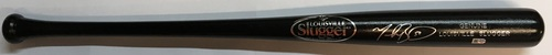 Photo of Mookie Betts Autographed Black Louisville Slugger Bat