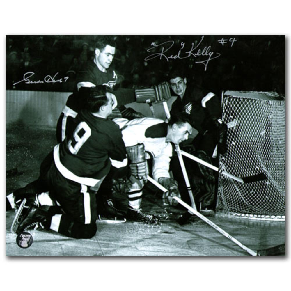Gordie Howe & Red Kelly Dual-Signed Detroit Red Wings 8X10 Photo