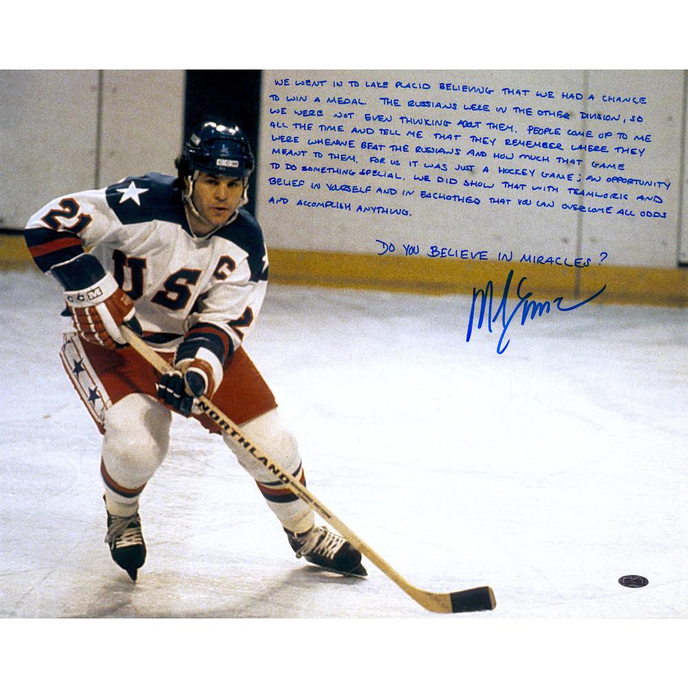 Mike Eruzione Team USA Autographed 16