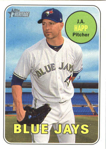 Photo of 2018 Topps Heritage #398 J.A. Happ