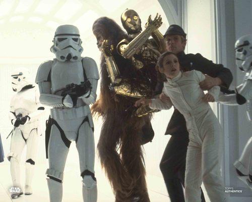 Princess Leia Organa, C-3PO and Chewbacca