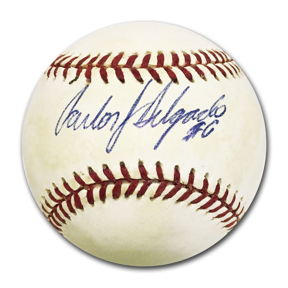 Carlos Delgado Autographed Official American League Baseball
