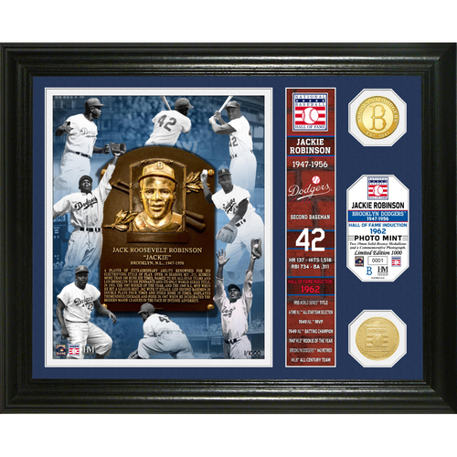 Photo of Jackie Robinson Hall of Fame Banner Photo Mint