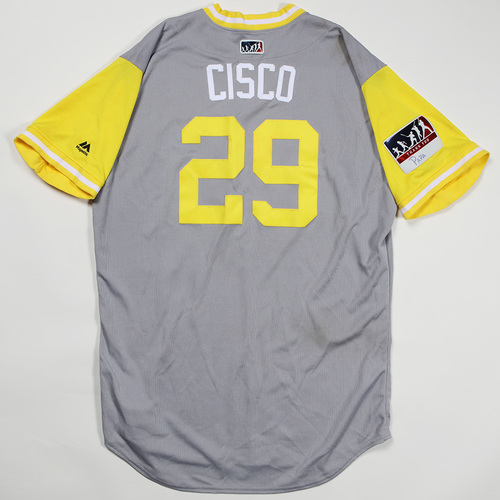 "Photo of Francisco ""Cisco"" Cervelli Pittsburgh Pirates Game-Used Jersey 2018 Players' Weekend Jersey"