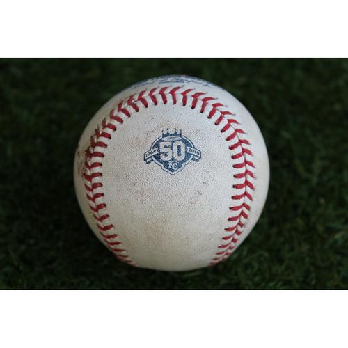 Photo of Game-Used Baseball: David Bote 23rd Career Hit (CHC @ KC - 8/8/18)