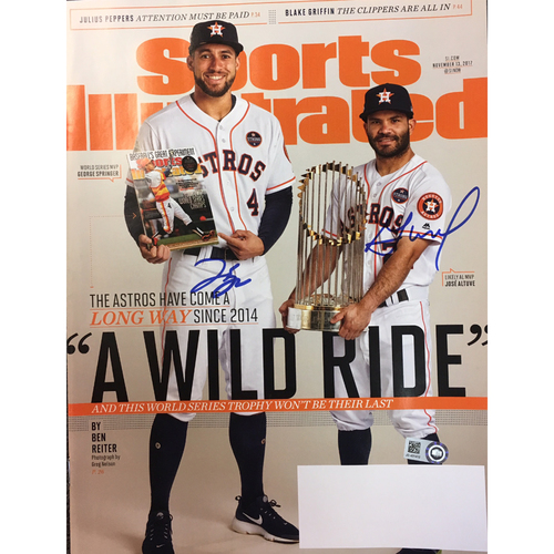 George Springer and Jose Altuve Autographed Sports Illustrated Magazine
