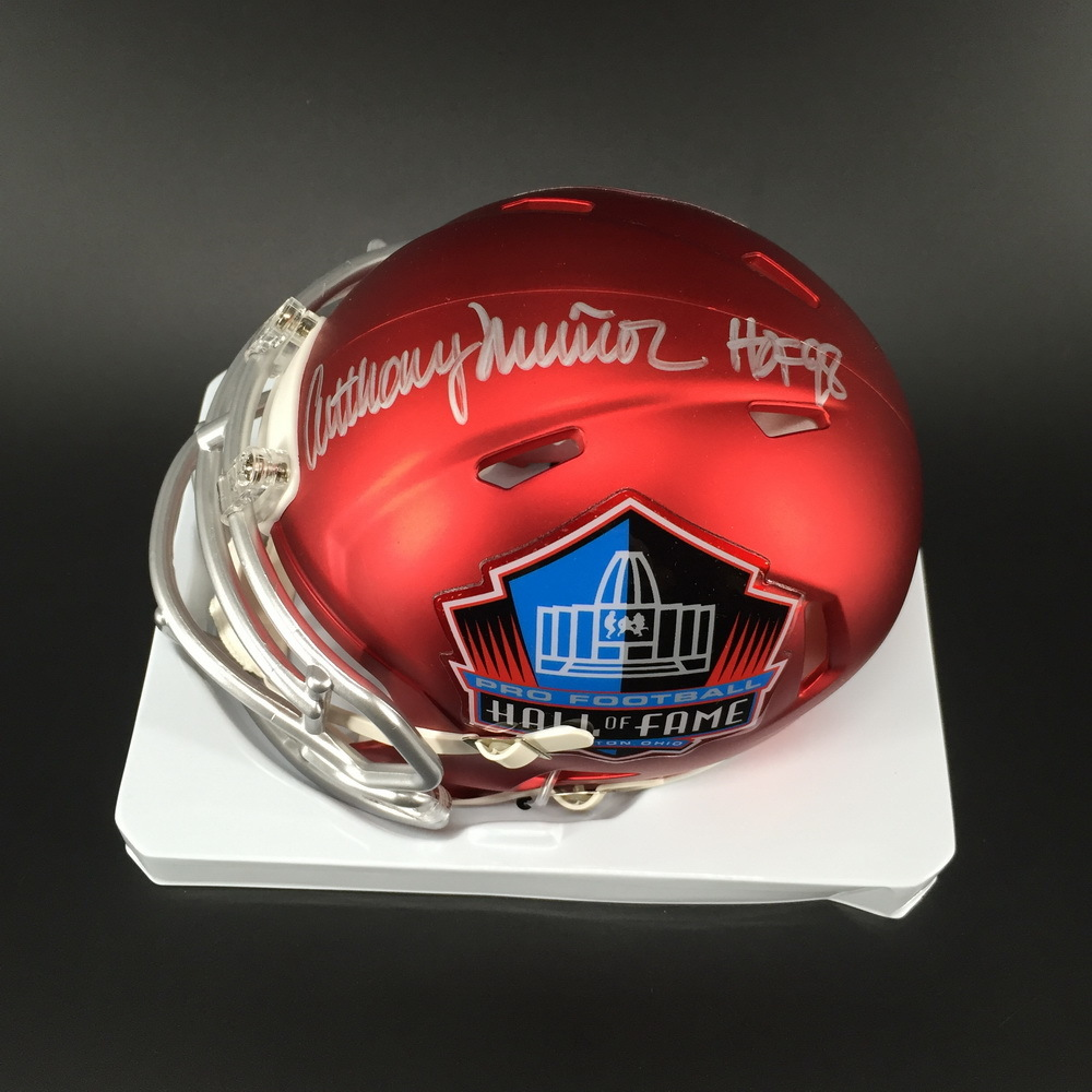 HOF - Bengals Anthony Munoz Signed HOF Mini Helmet