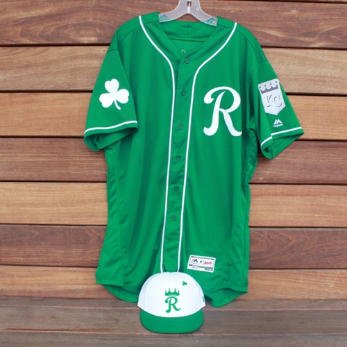 Photo of Team-Issued Saint Patrick's Day Jersey and Game-Used Cap: Zach Lovvorn (Jersey Size 48 - Cap Size 7 1/8)