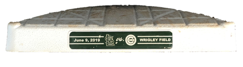 Photo of Game-Used 3rd Base -- Used in Innings 1 through 4 -- Cardinals vs. Cubs -- 6/9/19