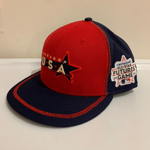 2014 All Star Futures Game -  Game Used Cap  - Peter O'Brien (New York Yankees) Size - 7 -1/2